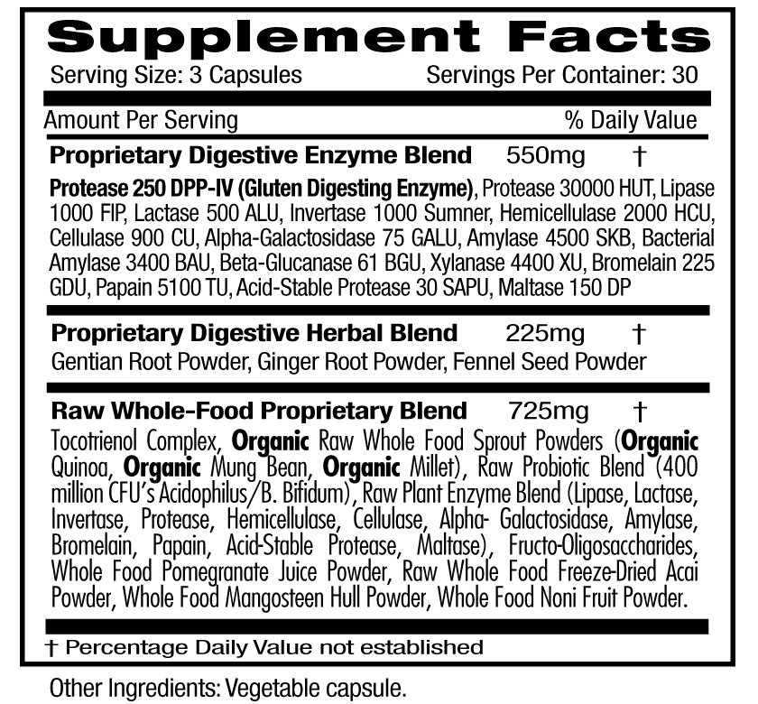 Emerald Digestive Health Supp Facts