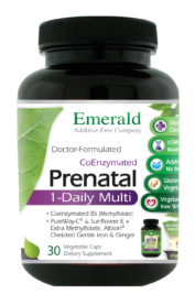 "One-Daily Prenatal Multi Vit-A-Min is a convenient 1-A-DAY formula with ""Gentle"" Iron, Ginger and double the amount of CoEnzymated Folic Acid, tailored to meet the specific health needs of pregnant and lactating women.† Recent research has shown that almost half of the U.S. population has a variance to their MTHFR gene which does not allow them to properly metabolize folic acid unless it is in its coenzyme form (L-5 Methyltetrahydrofolate). One-Daily Prenatal Multi Vit-A-Min Formula Highlights: Contains Coenzyme ""Activated"" Forms of B2(R-5-P), B6 (P-5-P) & Folic Acid (L-5 Methyltetrahydrofolate). Recent research has shown that over 46% of people can not properly metabolize Folic Acid unless it is in its activated coenzyme form (L-5 Methyltetrahydrofolate).1 Completely Soy-Free! Sunflower-based D-Alpha Tocopherol form of Vitamin E (most natural D-Alpha Tocopherol Vitamin E is soy-based). Vitamin C as Pureway-C®, a Sustained Release Vitamin C contains Vitamin C-lipid metabolites, citrus bioflavonoids and ascorbyl Palmitate for maximized absorption and retention. Contains Lutein, Lycopene, Alpha Lipoic Acid, and Grapeseed Extract. Contains Albion™ Mineral Chelates – The Gold Standard in Mineral Chelates. Vegetarian formula. PLUS: Twice the Folic Acid, in its CoEnzyme form, of key importance to prevent birth defects. Ginger for Antioxidant Support and Heart Health. Gentle Iron to address the much higher iron requirements of pregnant women."