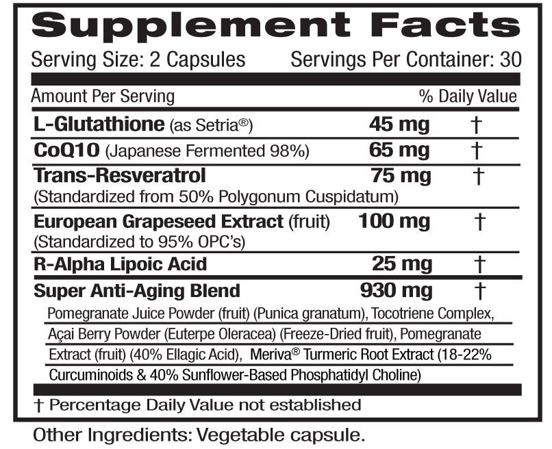 Anti-Aging Supp Facts