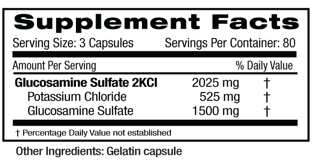 Glucosamine Sulfate Supp Facts