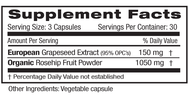 Grapeseed Extract Supp Facts