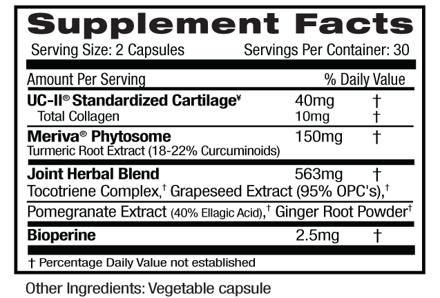 UC-II Joint Formula Supp Facts